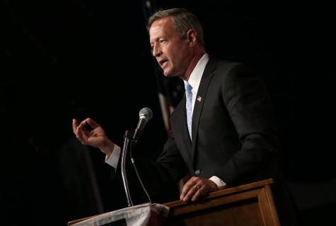 CLEAR LAKE, IA - AUGUST 14: Democratic presidential candidate Martin O'Malley speaks at the Iowa Democratic Wing Ding August 14, 2015 in Clear Lake, Iowa. The Wing Ding is held at the historic Surf Ballroom, where Buddy Holly and Ritchie Valens played their final concert, and featured Democratic presidential candidates Hillary Clinton, Sen. Bernie Sanders (I-VT), Martin OÕMalley and Lincoln Chaffee. (Photo by Win McNamee/Getty Images)