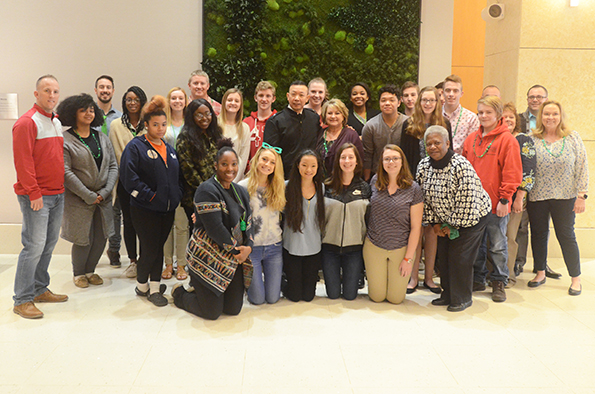 Teen delegates from National Guard Family Programs in Virginia, Delaware, Maryland, Pennsylvania, Washington D.C., and West Virginia gather for the Region 3 Youth Symposium March 17, 2018, in Virginia Beach. Hosted by Virginia National Guard Family Programs, the four-day event included programs designed to develop leadership skills, build resiliency, and identify and offer recommendations on issues National Guard Youth currently face. In addition, Brig. Gen. Lapthe Flora, the Virginia National Guard Assistant Adjutant General for Strategic Initiatives, addressed leadership, resiliency and diversity with the delegates. (U.S. Army National Guard Photo by Master Sgt. A.J. Coyne)